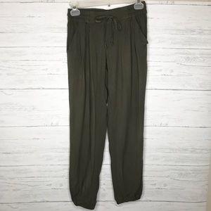 Green Drawstring Jogger Los Feliz Pants